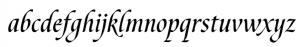 humanistic cursive script