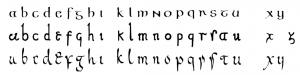 half-uncial script
