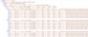 Oriflamms.exe : coordonnées d'alignement au niveau surface > page > colonne > ligne > mot > caractère